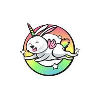unicorno di elefante di salto di coniglio