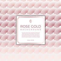 Fondo moderno piano di vettore dell'oro rosa del cerchio
