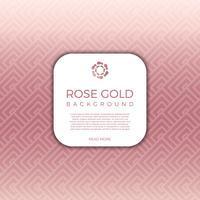 Fondo geometrico moderno piano di vettore dell'oro della rosa