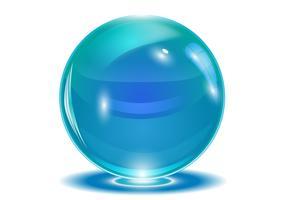 Sfera astratta blu, vettoriale