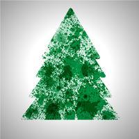 L'albero di vettore di Natale fatto dalla pittura rovesciata spruzza