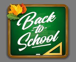 Vettore di iscrizione di ritorno a scuola