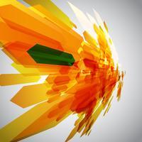 Arancione e una freccia verde in movimento vettoriale