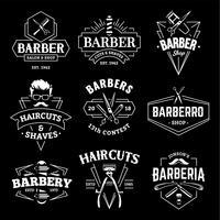 Emblemi di vettore del negozio di barbiere retrò
