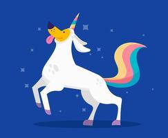 wannabe unicorno clipart set vettore