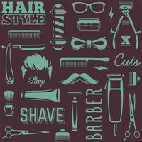 Vettore senza cuciture di struttura degli strumenti del barbiere