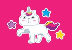 unicorno di gatto vettore
