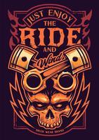 basta goderti la cavalcata del motociclista d'arte vettore