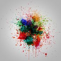 Effetto splash colorato, illustrazione vettoriale