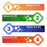 Un set di quattro banner vettoriale