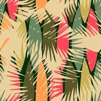 Modello senza cuciture astratto con foglie tropicali.