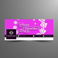 Astratto felice San Valentino facebook timeline banner template vettore