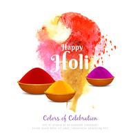 Progettazione variopinta del fondo di festival di Holi dell'estratto felice