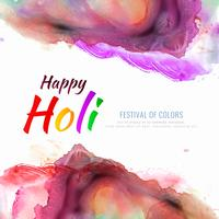 Illustrazione variopinta felice astratta della priorità bassa di celebrazione di festival di Holi vettore
