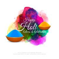 Astratto sfondo colorato felice Holi vettore