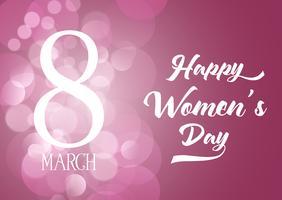 Priorità bassa di giorno delle donne internazionali con luci bokeh
