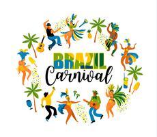 Carnevale del Brasile. Elemento di design per il concetto di carnevale e altri utenti. vettore