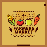 Illustrazione di vettore del mercato degli agricoltori