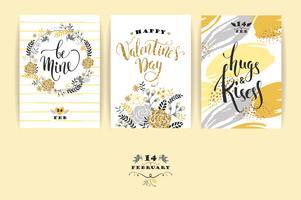 Set di carte Happy Valentines Day.