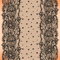 Modello senza cuciture del nastro astratto del pizzo con gli elementi fiori e punti