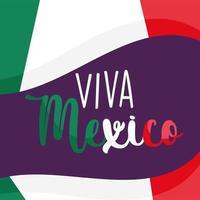 giorno dell'indipendenza messicana, bandiera emblema nazionale, viva messico si celebra a settembre vettore