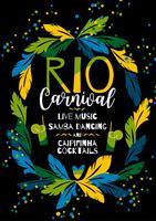 Carnevale del Brasile. Modello di vettore per il concetto di Carnevale.