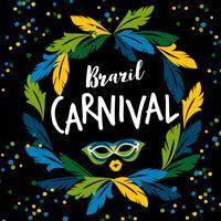 Carnevale del Brasile. Modello di vettore per il concetto di Carnevale
