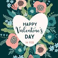 Concetto di design floreale per San Valentino e altri utenti.