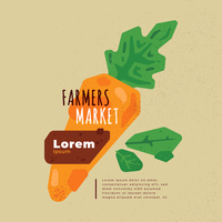 Vettore di volantino del mercato degli agricoltori