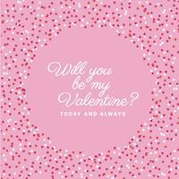 Cornice decorativa di San Valentino vettoriale