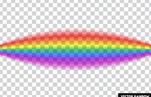 Arcobaleno trasparente Illustrazione vettoriale Arcobaleno realistico su sfondo trasparente.