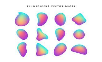 Forme vivide graduali. Raccolta fluida di vettore colorato astratto moderno.