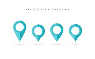 Pin di posizione. Mappa design piatto icona pin vettoriale.