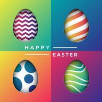 Taglio modellato sfondo di uova di Pasqua vettore