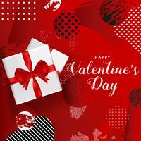 Manifesto felice di tipografia di giorno di biglietti di S. Valentino, progettazione romantica dell'illustrazione di vettore della cartolina d'auguri
