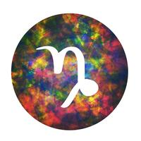 Un segno zodiacale del capricorno, illustrazione vettoriale