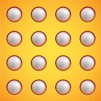 Il giallo bolle priorità bassa, vettore