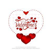 Felice giorno di San Valentino bella carta di sfondo vettore