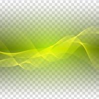 Disegno astratto onda verde su sfondo trasparente