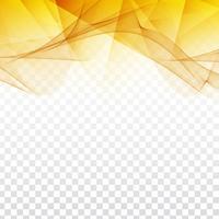 Disegno geometrico ondulato astratto su sfondo trasparente