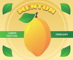 Fantastici vettori di Menton France Lemon Festival