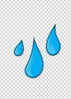 Spruzzata di vernice blu con sfondo di trasparenza. Illustrazione vettoriale