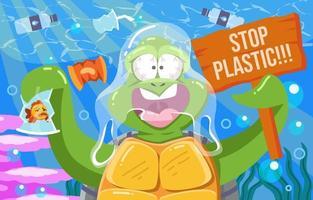 ferma la campagna di plastica vettore