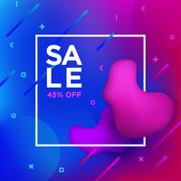 Sale Banner Liquefy Fluid Color background