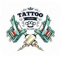 poster di studio del tatuaggio vettore