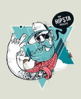 Personaggio dei graffiti hipster