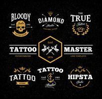 emblemi dello studio del tatuaggio vettore