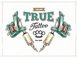 poster di studio del tatuaggio