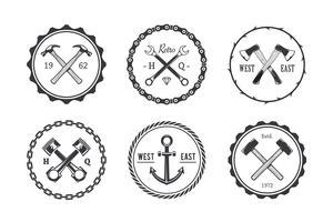 Emblemi dell'artigianato del cerchio vettore