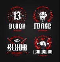 Stampe di combattimento del grunge